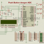 Keypad / push button dengan ADC